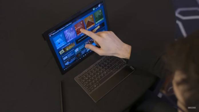 This Is What It Looks Like And How It Works The World's First Folding Screen Laptop
